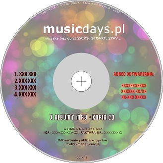 Płyta CD/DVD - nośnik MP3